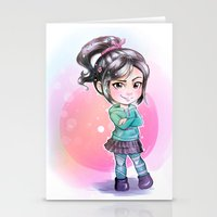 wreck it ralph Stationery Cards featuring Vanellope - Wreck-it Ralph by Claire