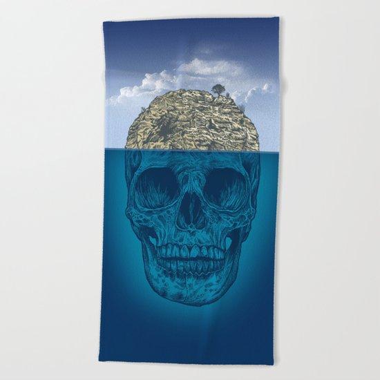 Skull Island Beach Towel