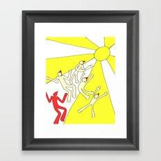 hot sun, Series 2 Framed Art Print