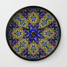 Persian kaleidoscopic Mosaic G522 Wall Clock