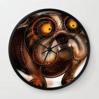 bulldog Wall Clocks featuring Bulldog by Riccardo Pertici