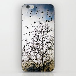 Birds Flying Through The Trees iPhone Skin
