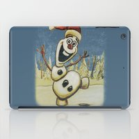 olaf iPad Cases featuring Olaf Christmas Frozen by WimpyGeek Art