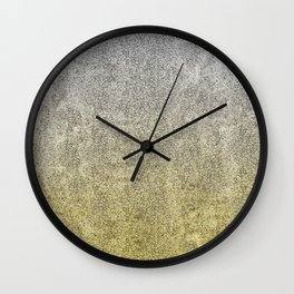 Silver and Gold Glitter Gradient Wall Clock