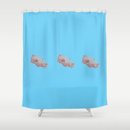 Foxy Skull Shower Curtain