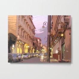 Evening in Sorrento Metal Print