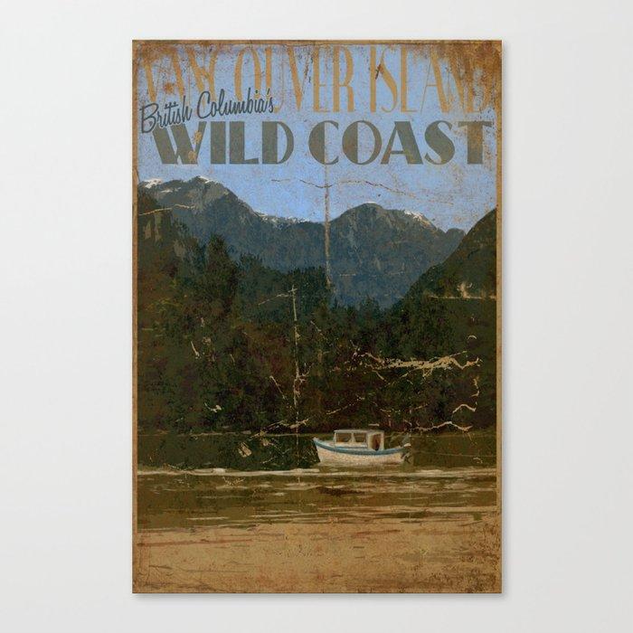 Vintage Poster - Vancouver Island, British Columbia's Wild Coast Canvas Print
