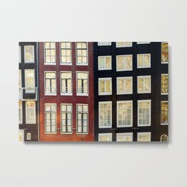 Facades Dutch canal houses Amsterdam Netherlands photo Fine Art Print Metal Print
