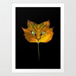 Autumn Cat-5 Art Print