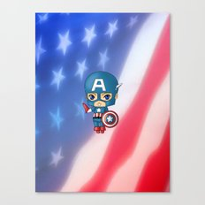 Chibi Captain America Canvas Print