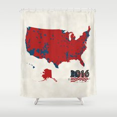 2016 Election Results Shower Curtain
