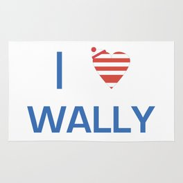 I Heart Wally Rug