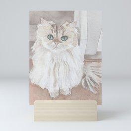 Smoothie the Cat Mini Art Print