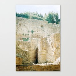 The Walls of the Baths of Caracalla 2 Canvas Print