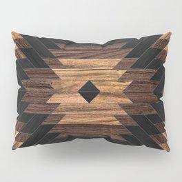 Urban Tribal Pattern No.7 - Aztec - Wood Pillow Sham