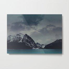 Lake Louise Winter Landscape Metal Print