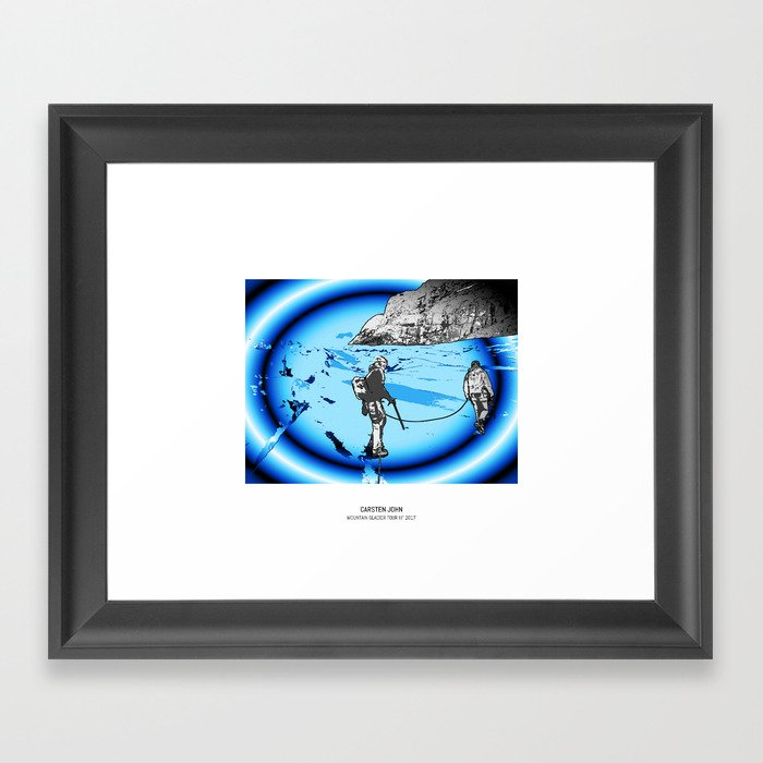 MOUNTAIN GLACIER TOUR III Framed Art Print