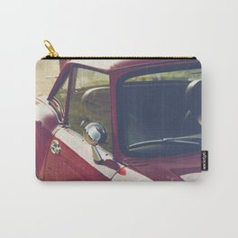 Sportscar, supercar, windscreen details, red triumph spitfire, english car Carry-All Pouch