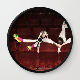 I enjoy going to the cinema. Taking a dress off. Closing my eyes. Watching the Dreamers Wall Clock