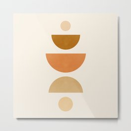 Abstraction_Geometric_Shape_Moon_Sun_Minimalism_001D Metal Print