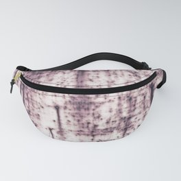 Metal with abstract textures and pink tones Fanny Pack