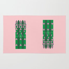 Vegetable: Asparagus Rug