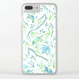 Three Turtles Swimming Clear iPhone Case