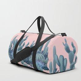 Milagritos Cacti on Rose Quartz Background Duffle Bag