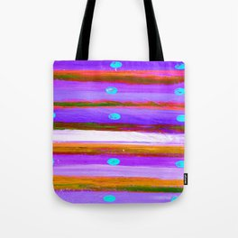 DOTS & LINES PURPLES Tote Bag