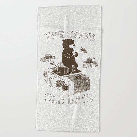 The Good Old Days Beach Towel