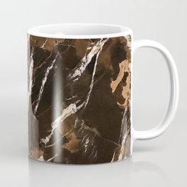 Sienna Brown and Black Marble With Creamy Veins Coffee Mug