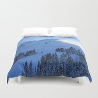 ashton irwin Duvet Covers featuring Ghosts In The Snow by Jeffrey J. Irwin