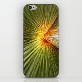 Palm leaf zoom iPhone Skin