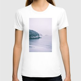 High Cliff on the Cost. Wild Beach in Ha Long Bay, Vietnam. Nature Photography. T-shirt