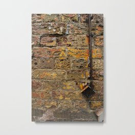 Yellow Wall Texture Metal Print