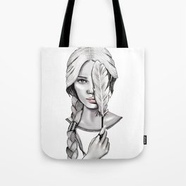 Feather Head Tote Bag