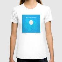pixar T-shirts featuring No134 My UP minimal movie poster by Chungkong
