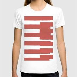 Big Stripes In Red T-shirt