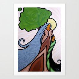 She's In The Wind Art Print