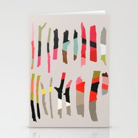camus Stationery Cards featuring painted twigs 1 by Garima Dhawan
