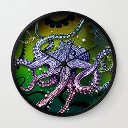 Rainbow Octopus Wall Clock