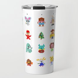 Fire Chief Charlie Pixel Characters Travel Mug