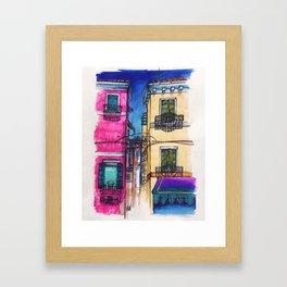 """Burano"" Drawing Framed Art Print"