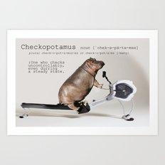 Checkopotamus Art Print