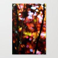 bokeh Canvas Prints featuring Bokeh by KitKatDesigns