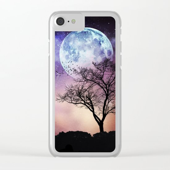 mOOn treE Clear iPhone Case