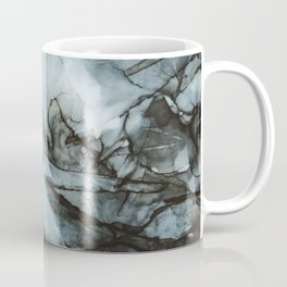 Dark Blue Abstract Painting Coffee Mug