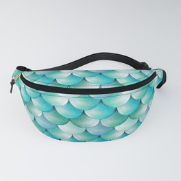 mermaid scales, turquoise shimmer Fanny Pack