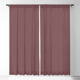 Pantone Red Pear Multi Striped Tiny Scallop Wave Pattern Blackout Curtain