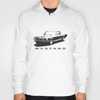 mustang Hoodies featuring Mustang Design by kartalpaf
